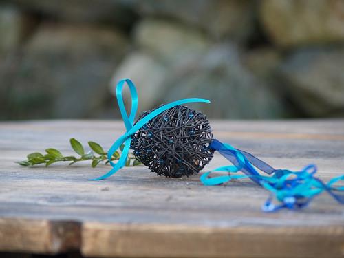 Velikonoční vejce modré malé