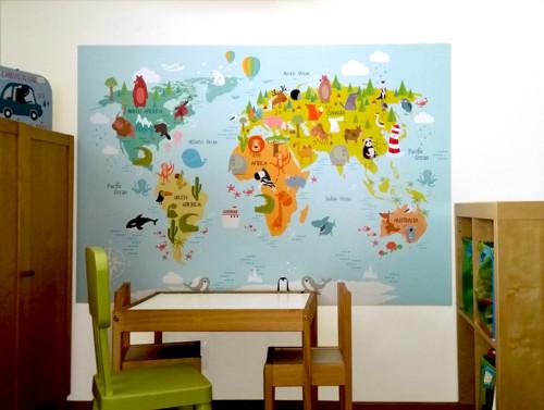Samolepka na stěnu – MAPA SVĚTA