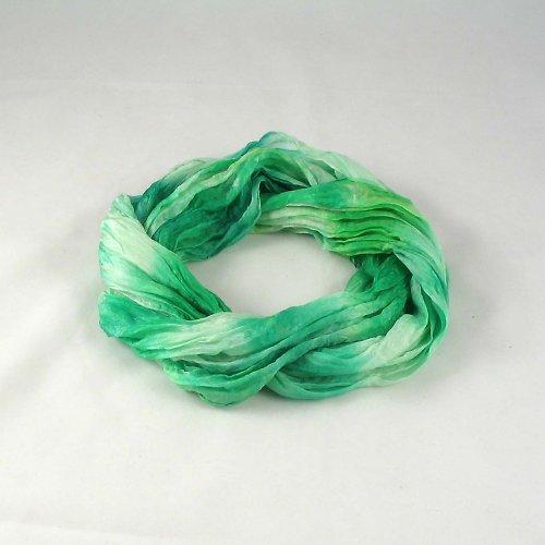 Vrapovaná šála - zelená