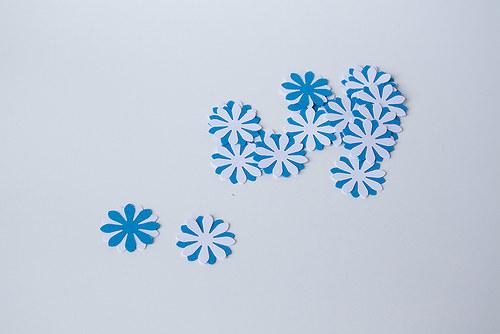 Kytka - modro-bílá - oboustranná