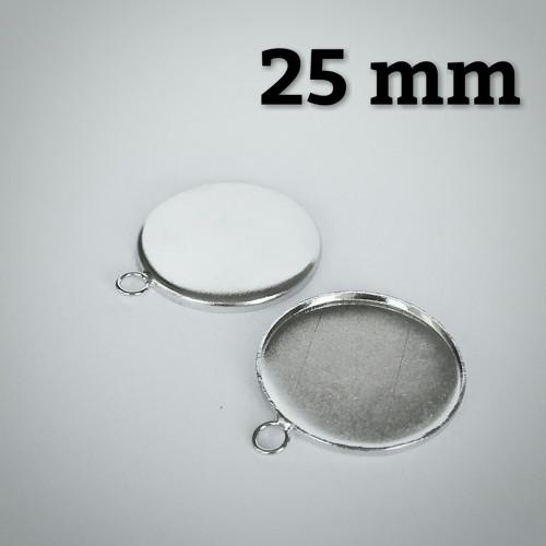 Lůžko - kruhové - rovný okraj (25mm) - platina