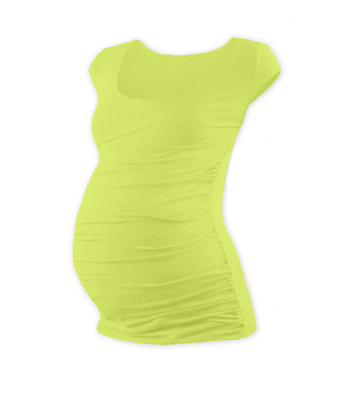 Těhotenské tričko mini rukáv světle zelené