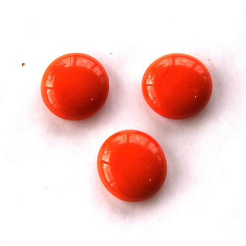 Skleněné Čočky 2cm - 2ks - Oranžové