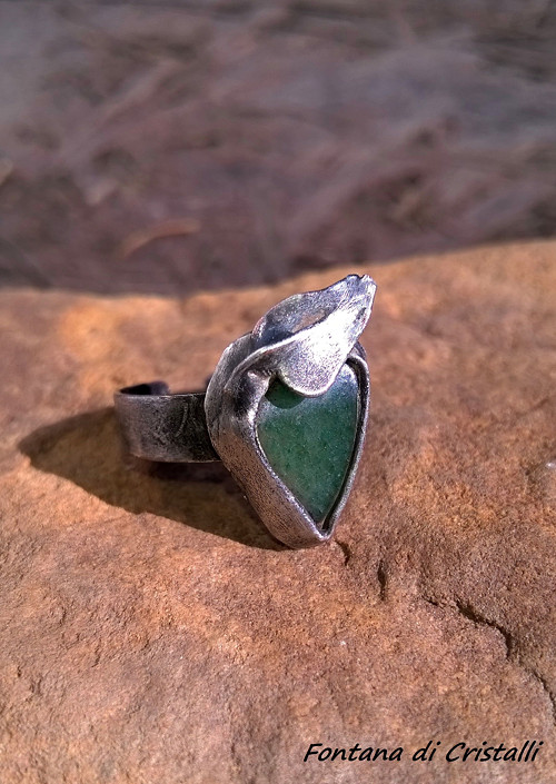 Prsten Zelený Avanturín Ornamental