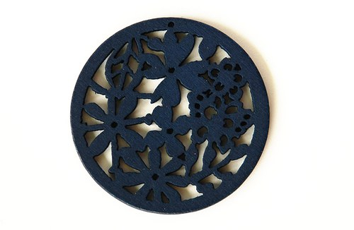 dřevěná kolečka- tmavě modrá