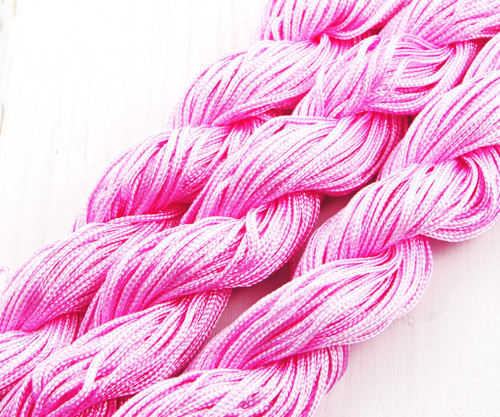 28m 90 stop 30yrd Růžové Nylon Kabel Twisted Plete