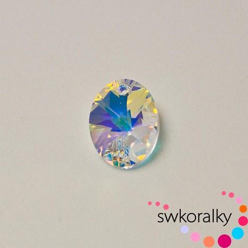 Přívěsek OVÁL 18 SWAROVSKI ® ELEMENTS crystal AB