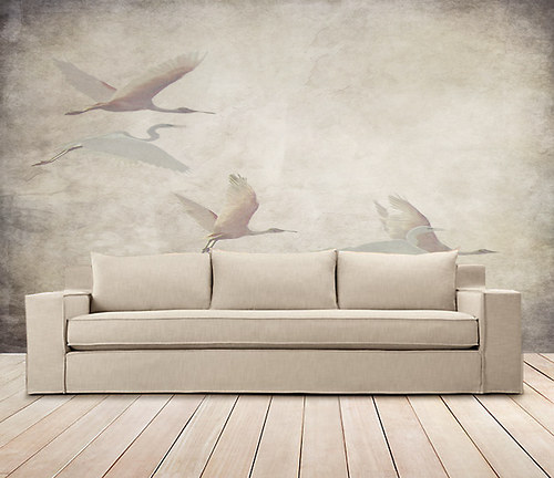 Luxusní vliesová tapeta ,,Vintage style - Herons,,