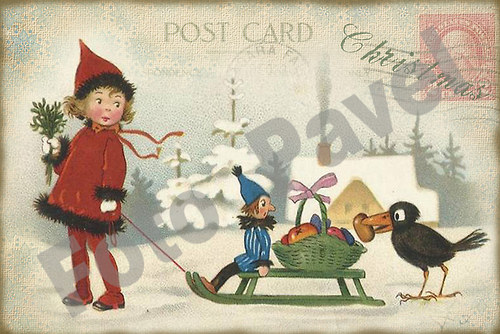 Vintage motiv - vánoce 31