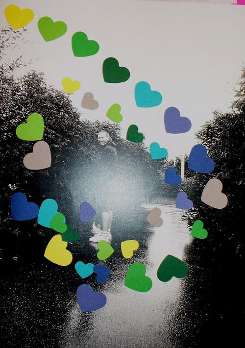 Srdíčka výsek - mix tvavých barev, 34ks