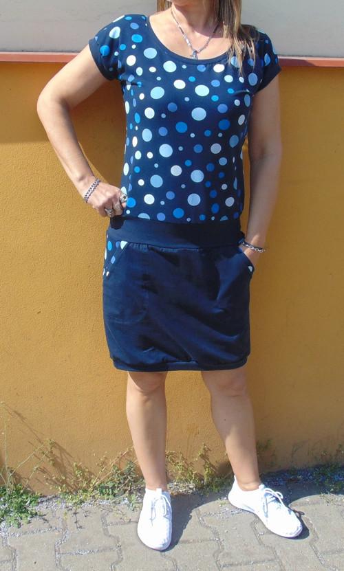 šaty Bublinky s tm.modrou