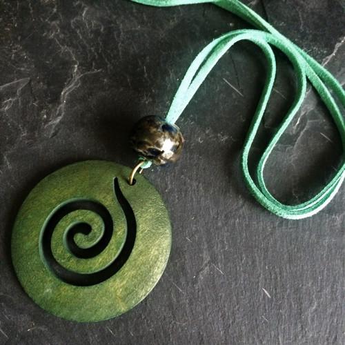 Přívěsek Spirála zelená