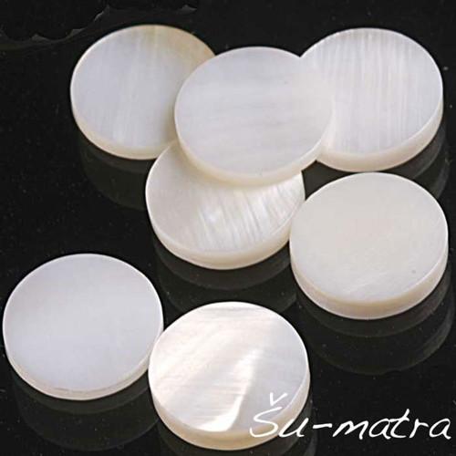 Perleťové kabošony, 8 mm, (4 ks)
