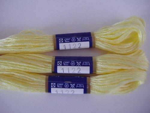 Vyšívací příze moline - světle žlutá