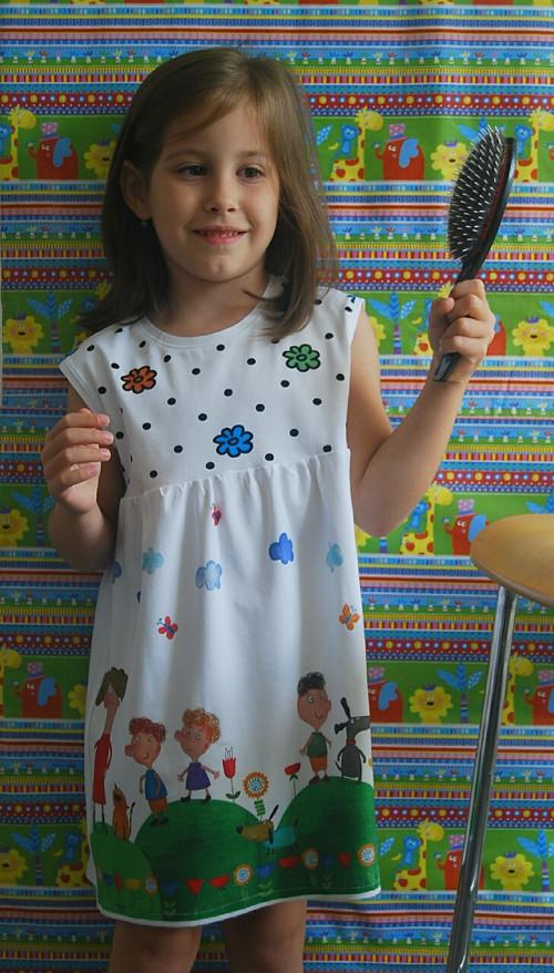 """Úpletové šaty pro holčičku\"""" Veselé děti\"""""""