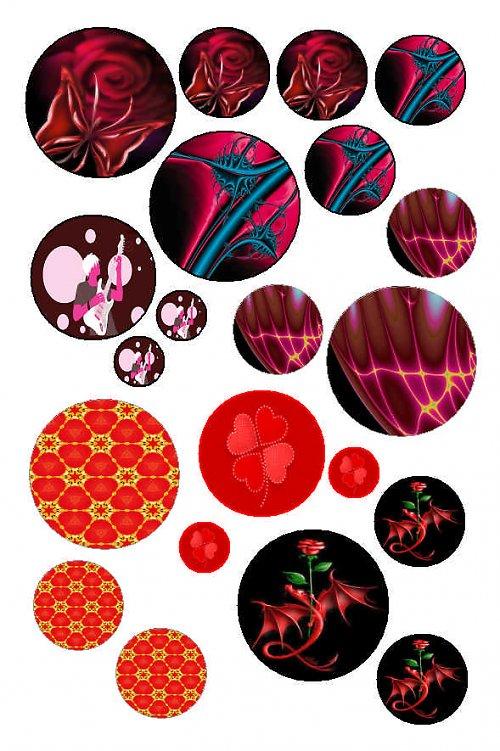 mix motivů červených kolečka