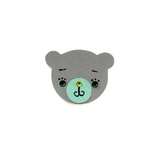 Reflexní brož medvídek Fanouš