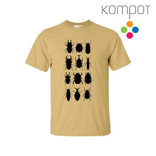Pánské tričko s Brouky :: béžové - vel. S-2XL