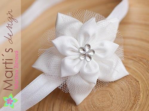 Čelenka s květinou svatební