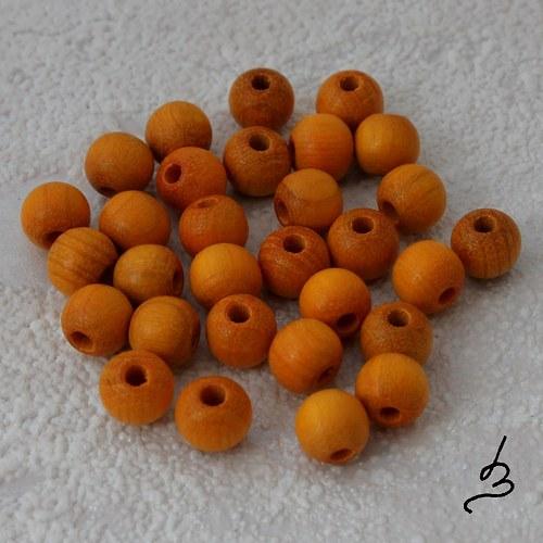 Dřevěné SV oranžové  pr. 6 mm - bal. 30 ks