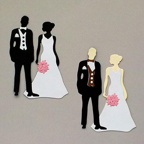 Výsek - Ženich a nevěsta - sada 2ks párů