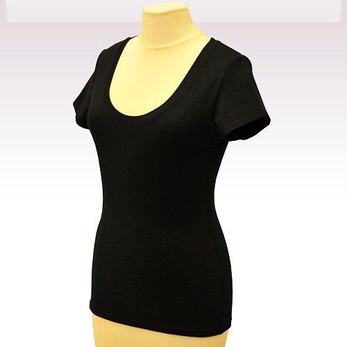 Černé tričko belaroma krátký rukáv, kulatý výstřih