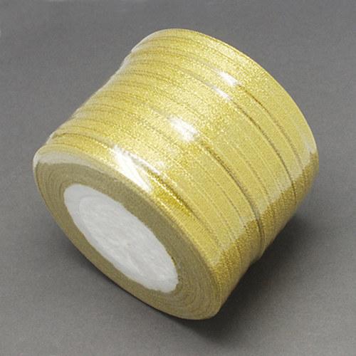 stuha lurexová/6mm/ zlatá/ 22,5m / 1Ks