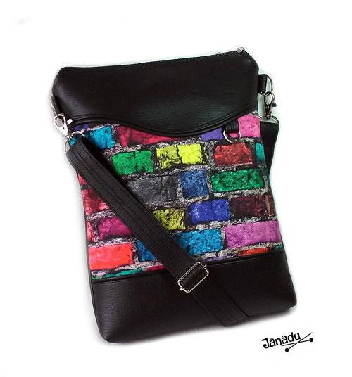 Kabelka - taška Barevné cihličky
