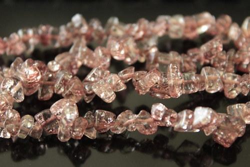 Praskané korálky zlomky - 10cm