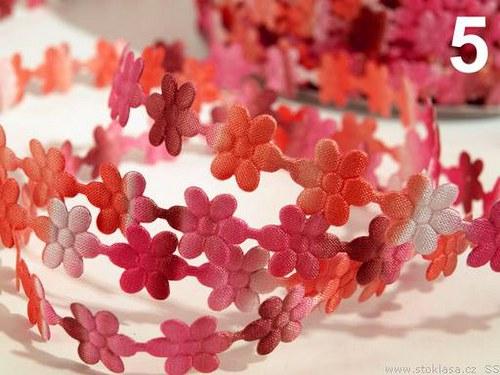 Saténové květinky melír