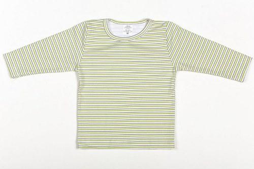 Dětské pruhované tričko DR zelené