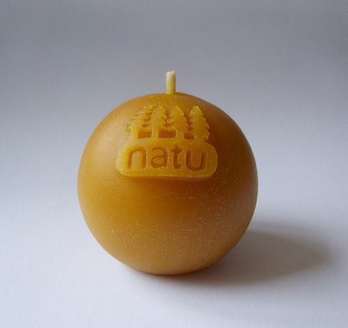 NATU 2 - svíčka ze včelího vosku