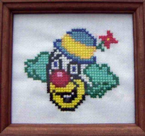 Vyšívaný obrázek - klaun