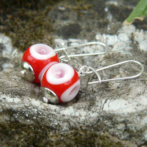 Náušnice - utopené oko - vinuté perle