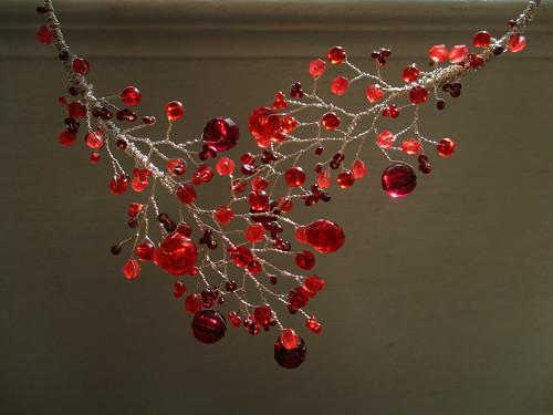 náhrdelník Červené větvení