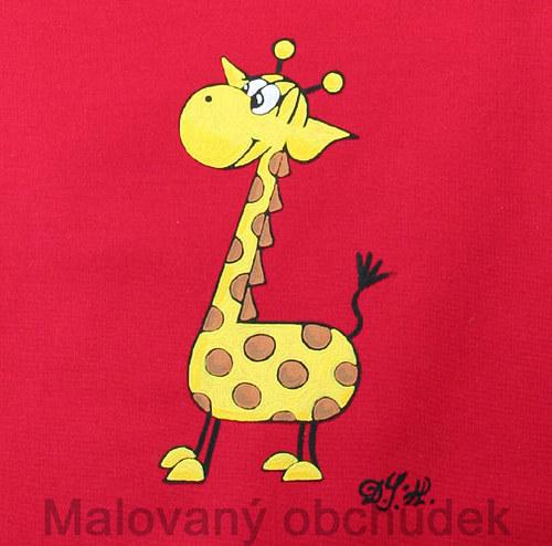 Malovaný pytlík bačkůrkovník s žirafou