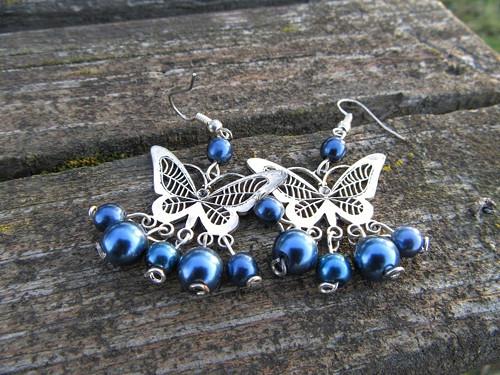 Náušnice motýlí