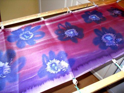 Kurz - malba na hedvábí - šátek