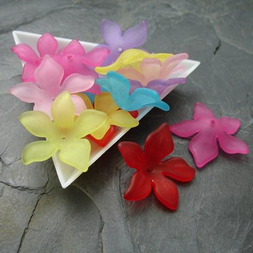 Mix akrylových květů 29 mm - 10 ks