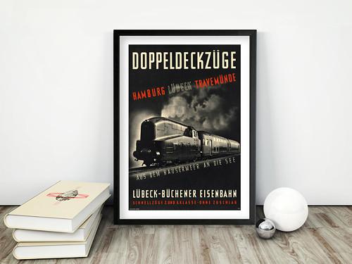 Vintage plakát Doppeldeckzuge