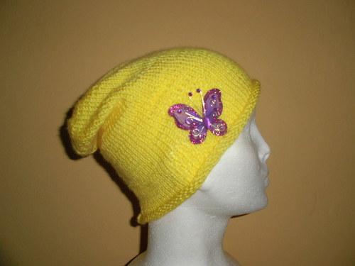 Čepice Rolka motýlek-žlutá