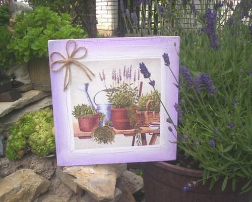 Levandulový obrázek 16 - zátiší  s levandulí