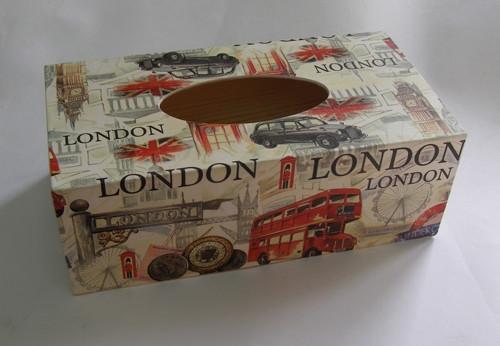 SKLADEM - krabice na papírové kapesníky - London