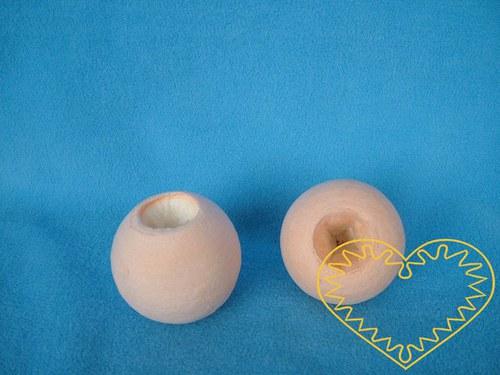 Tělová vatová hlavička - otvor na prst - 10 ks