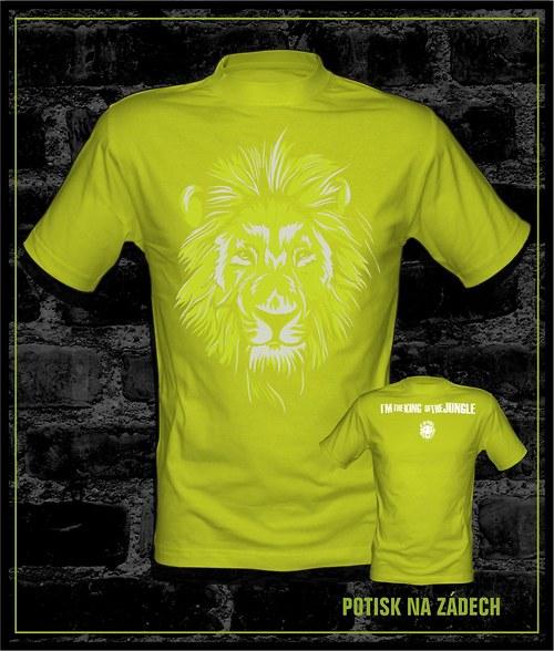 Pánské tričko I´m the king - zelenožluté