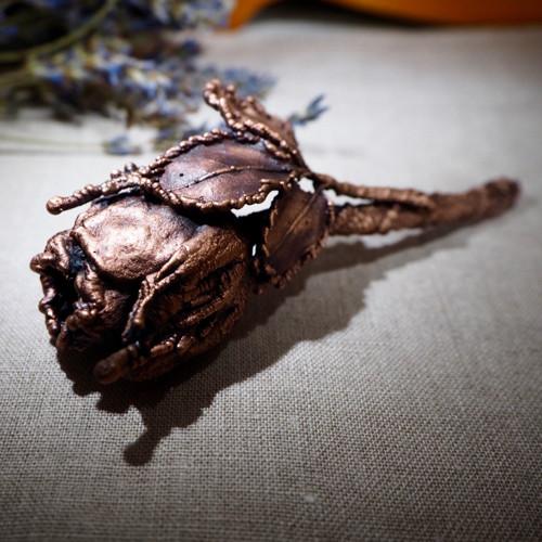 Růže - měď, patina