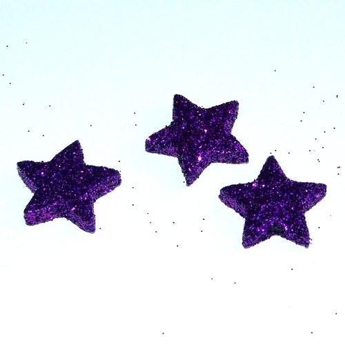 Hvězdičky fialové tmavé, cena za 3 ks