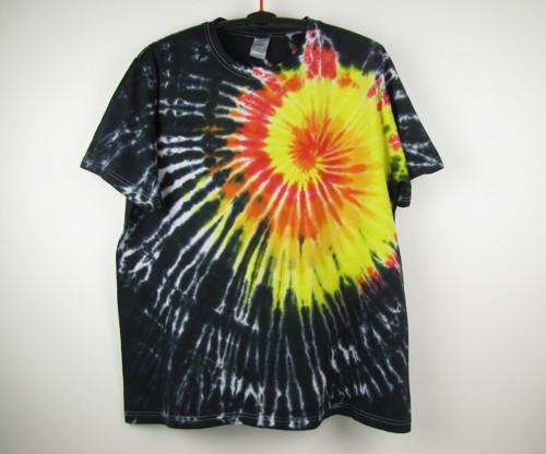 Batikované tričko On fire, XXL