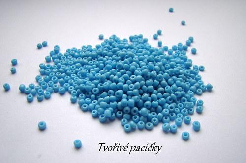 Rokajl skleněný jednobarevný 3 mm - modrá 20g