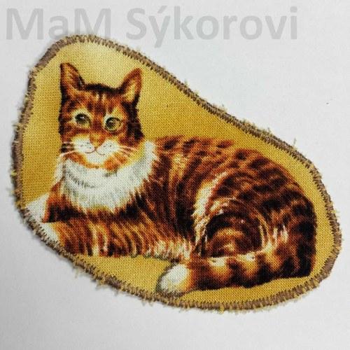 Nažehlovací záplata odpočívající kočička Sleva
